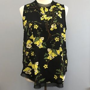 Who What Wear Floral Tank Top, M